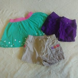 Other - Lot of 3 shorts/skort size 12-18 mo